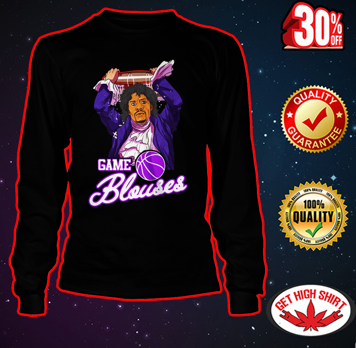 Game Blouses Chappelle's Show long sleeve tee