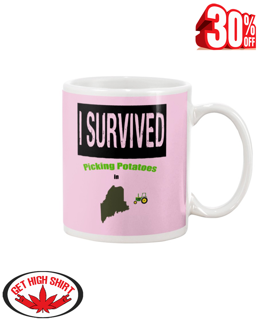 I Survived Picking Potatoes in Maine mug - pink classic