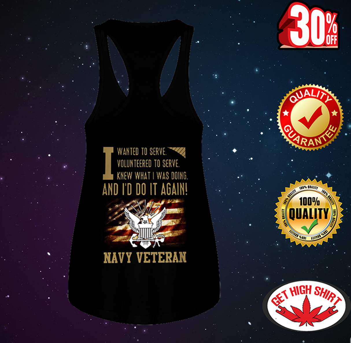 I wanted to serve volunteered to serve knew what i was doing and I'd do it again navy veteran flowy tank