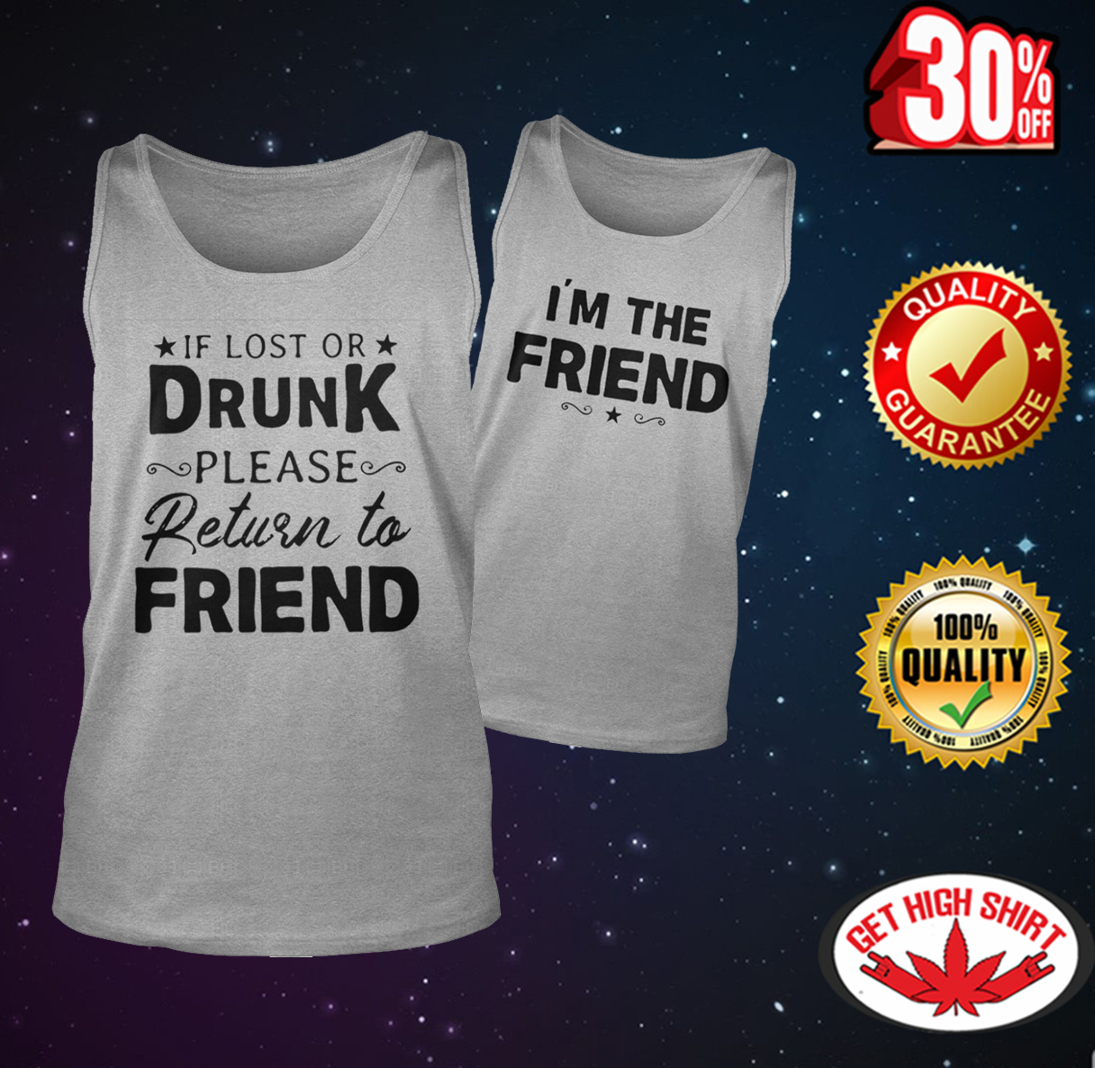 If lost or drunk please return to friend - I'm the friend tank top