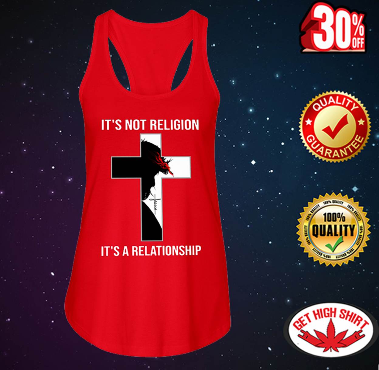 Jesus it's not religion it's a relationship flowy tank