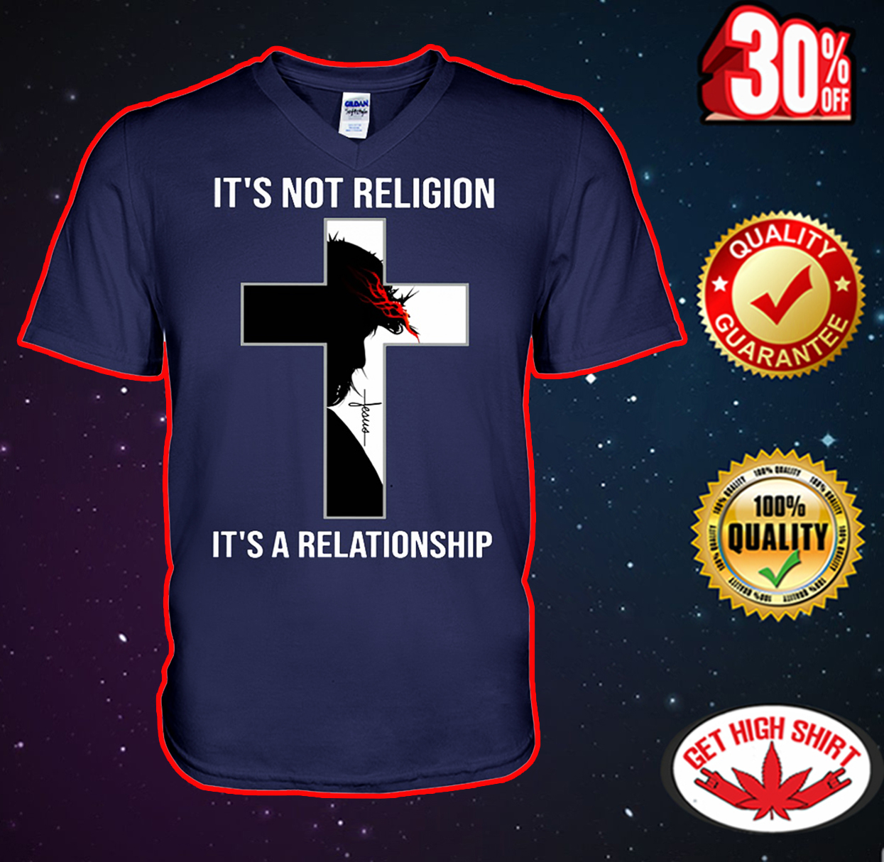 Jesus it's not religion it's a relationship v-neck