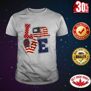 Love camping American flag shirt