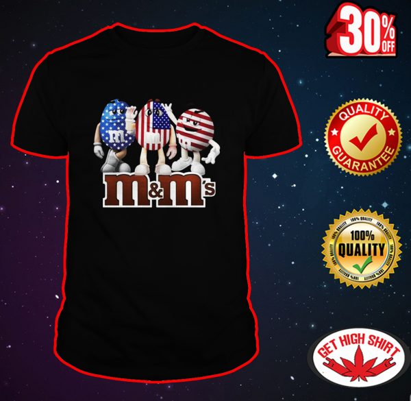 M&M's American Flag 4th of July shirt