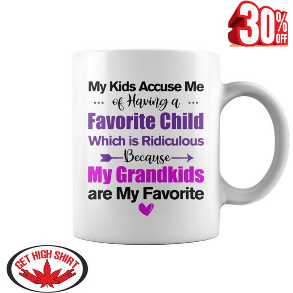 My kids accuse me of having a favorite child my grandkids are my favorite mug