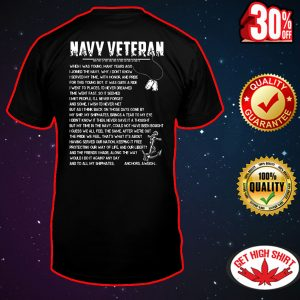 Navy veteran when I was young many years ago I joined the navy shirt