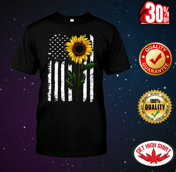 Sunflower American flag 4th of July shirt