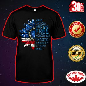 Sunflower American flag She is life itself wild and free shirt
