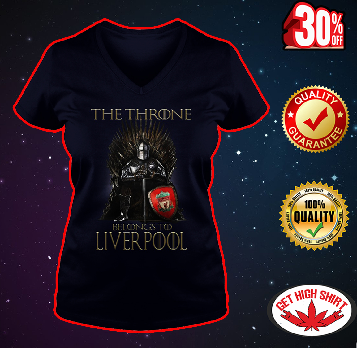 The Throne Belongs To Liverpool v-neck