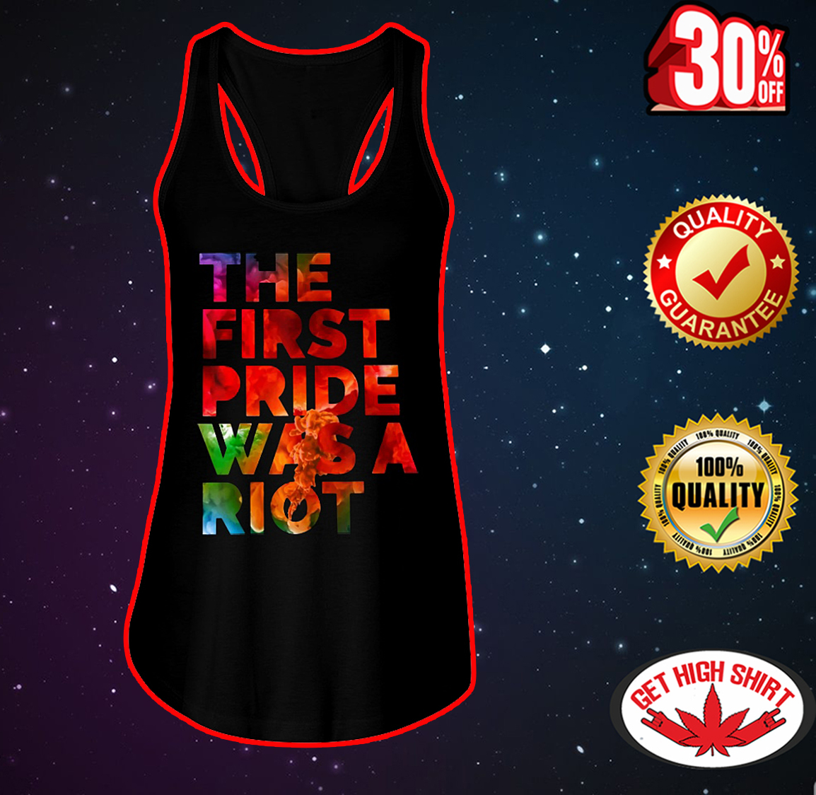 The first pride was a riot flowy tank