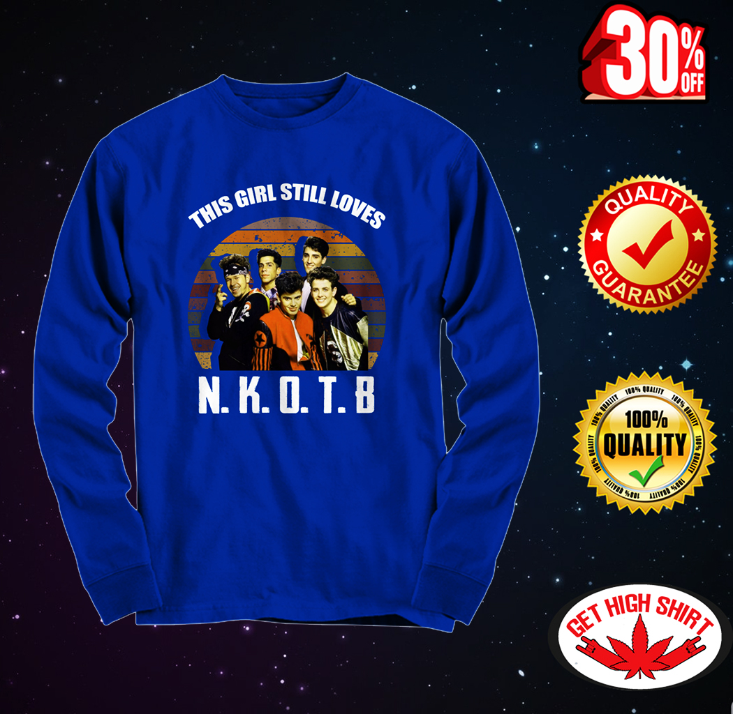 This girl still loves NKOTB long sleeve tee