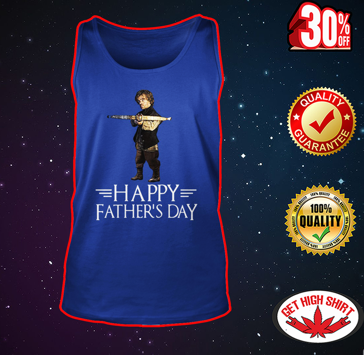 Tyrion Lannister happy father's day tank top