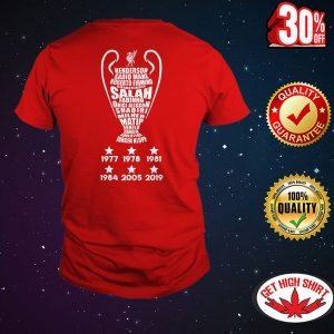 UEFA Champions League Cup Liverpool Players Name shirt