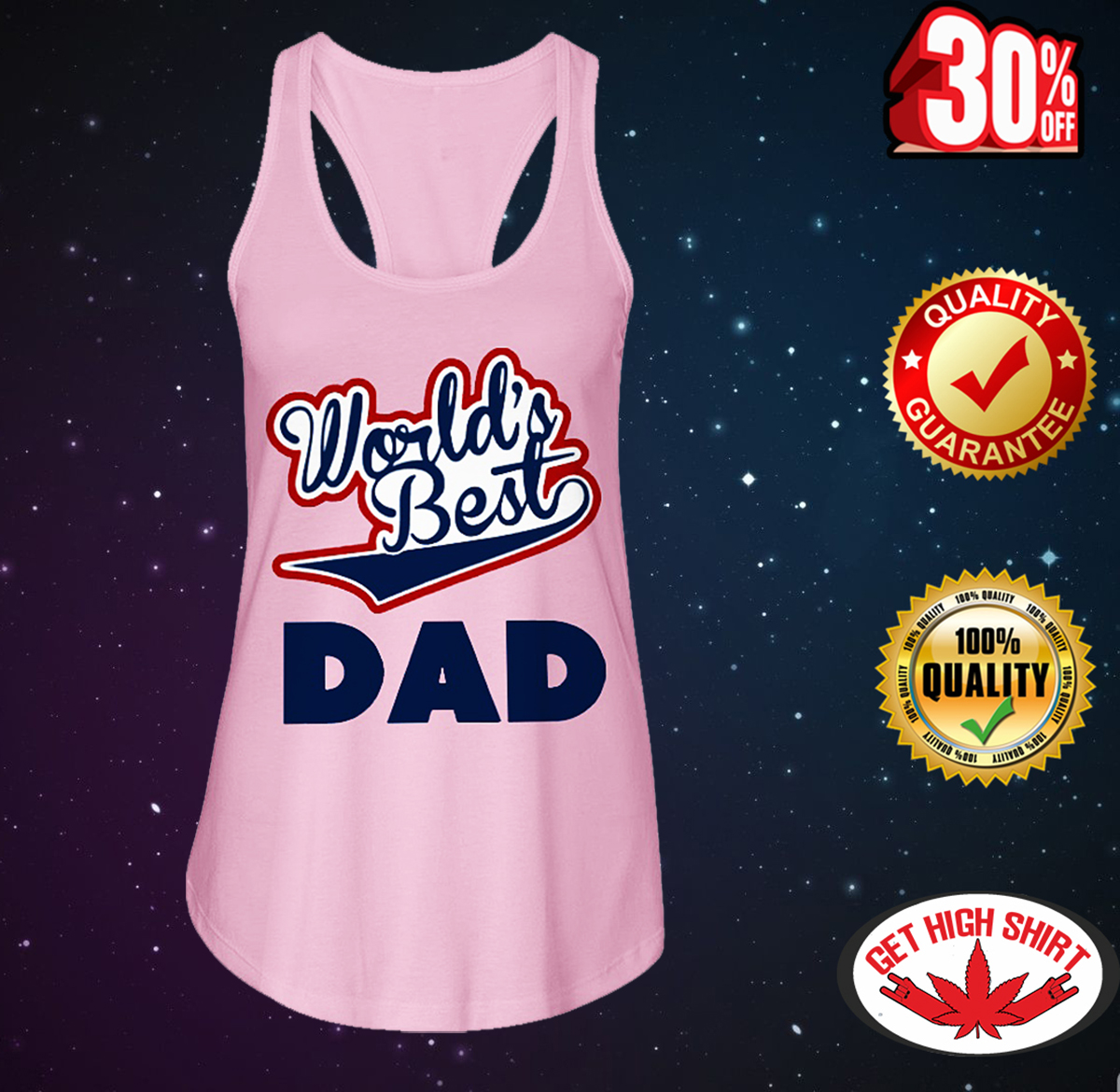 World's best dad flowy tank