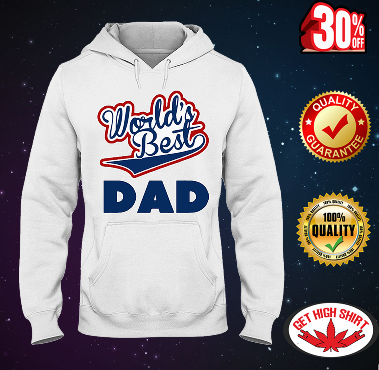 World's best dad hooded sweatshirt
