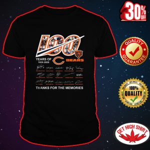100 Years of Chicago Bears thanks for the memories shirt