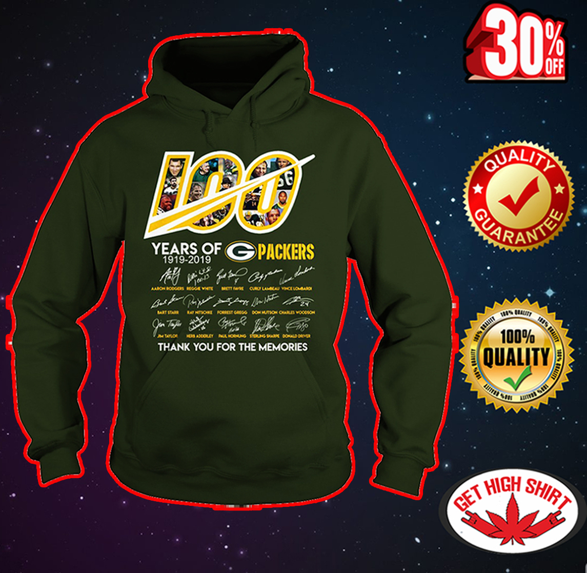 100 year of Packers thank you for memories hoodie