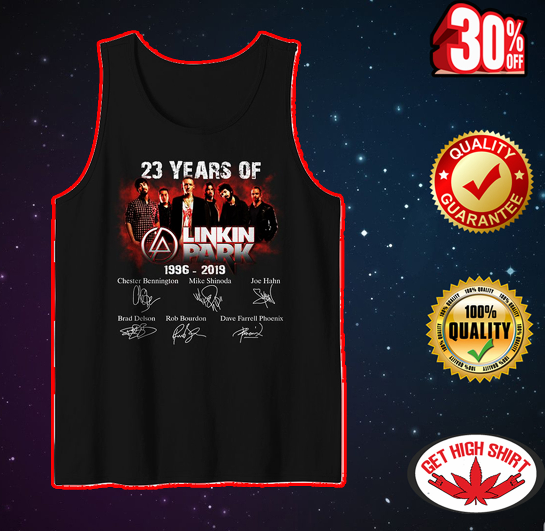 23 years of Linkin Park signature tank top