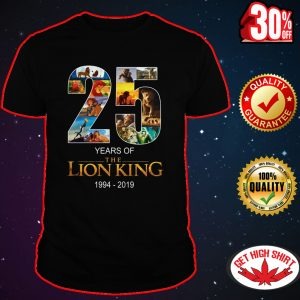 25 years of the Lion King shirt
