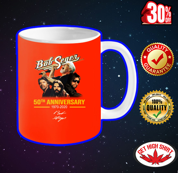 Bob Seger 50th Anniversary mug - orange