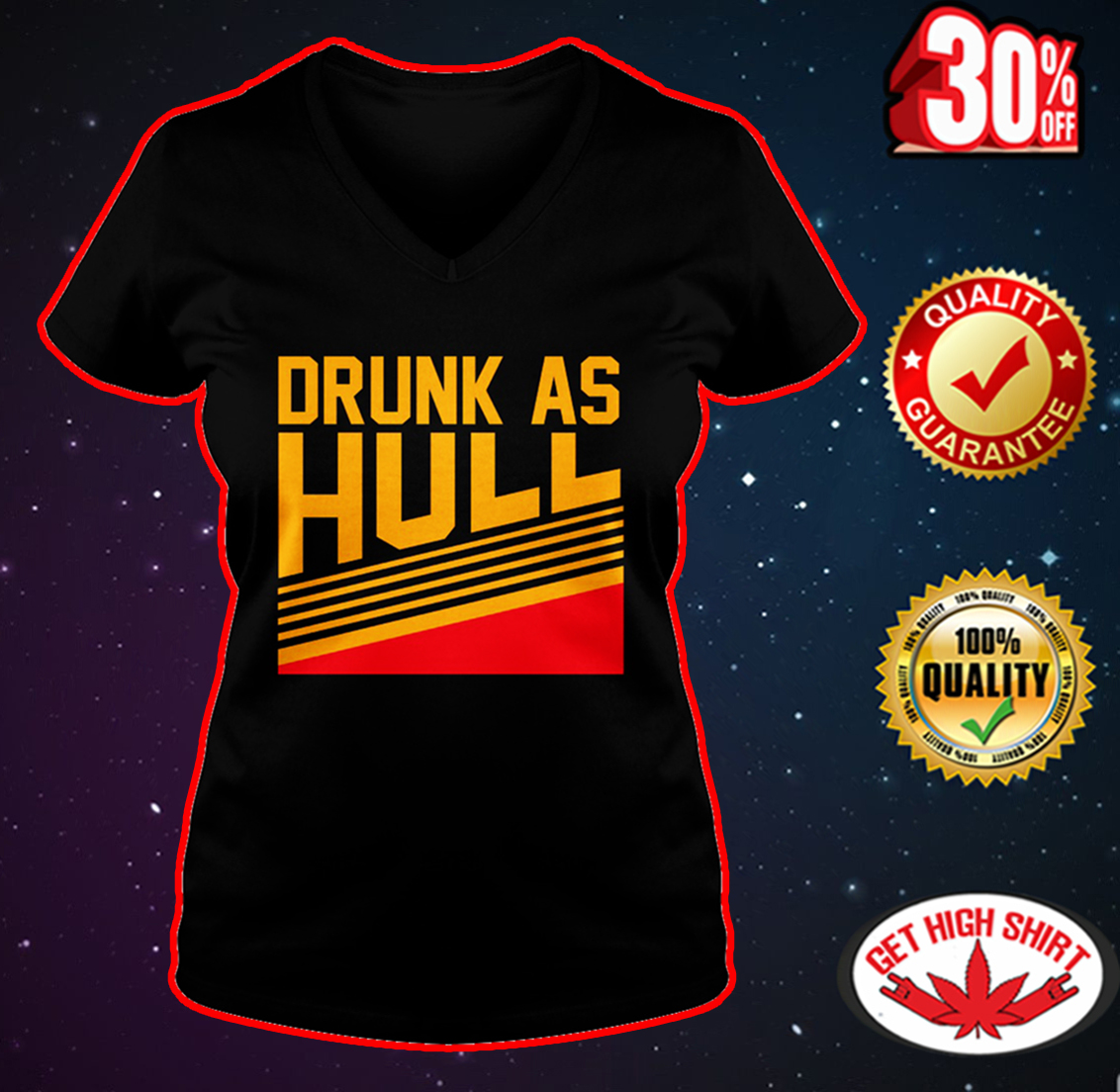 Drunk as hull v-neck