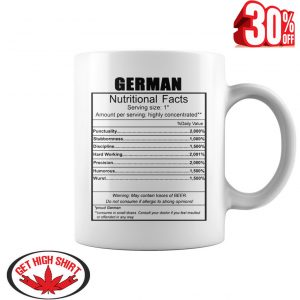 German nutritional facts mug