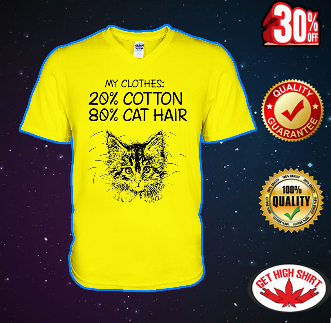 My clothes 20% cotton 80% cat hair v-neck
