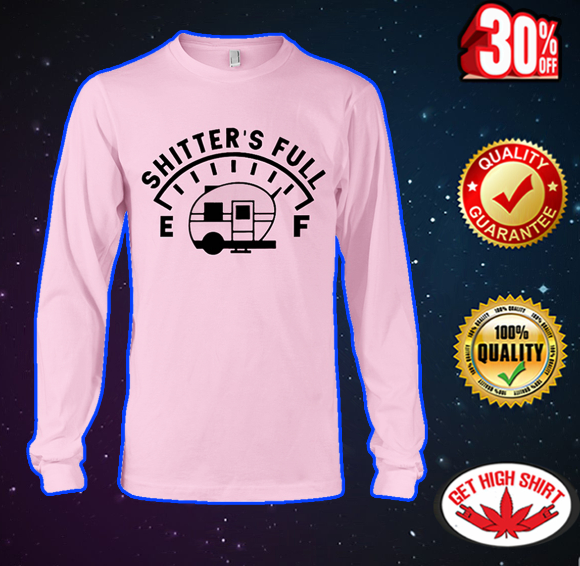 Shitter's full camping long sleeve tee