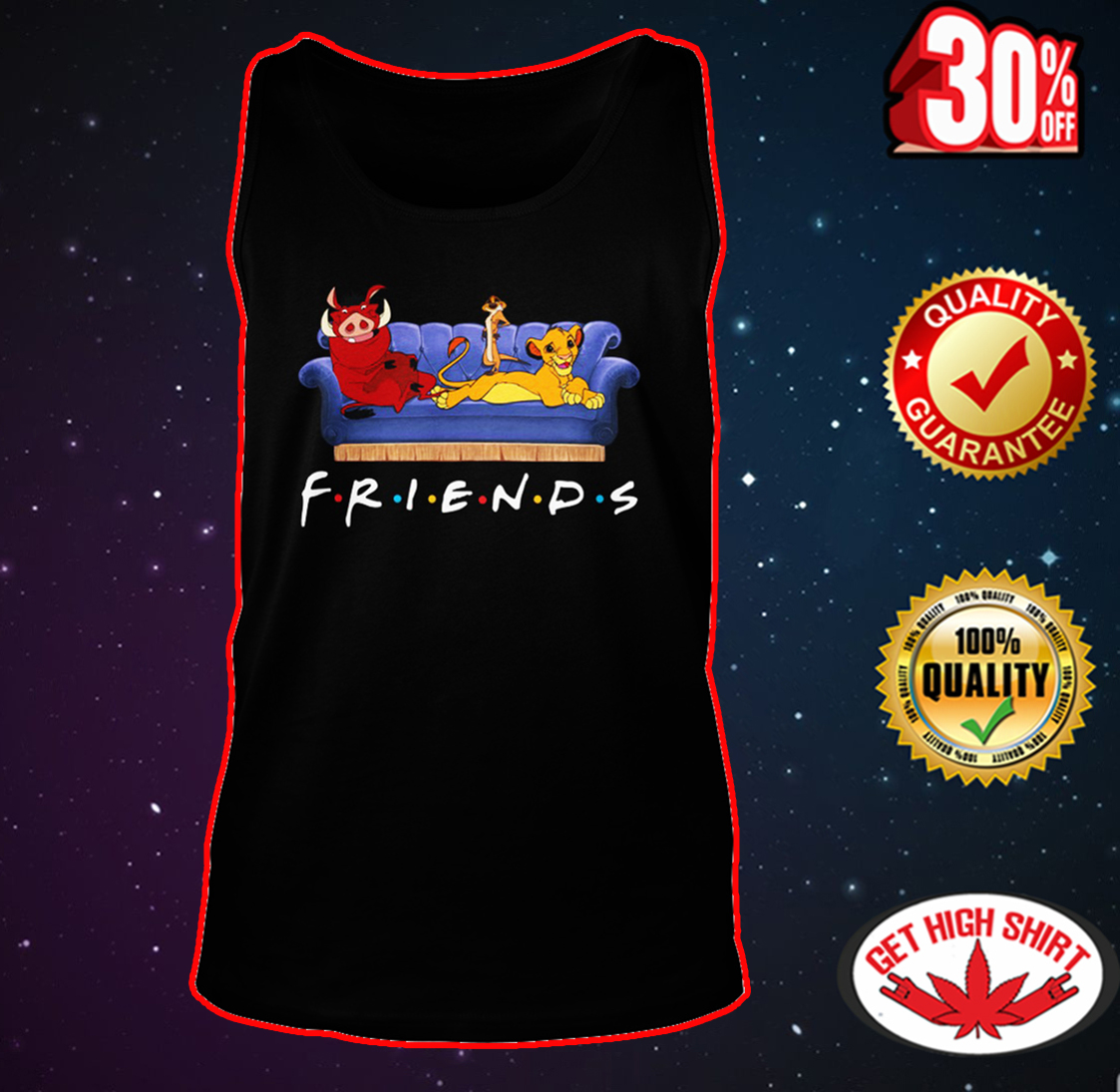Simba Timon and Pumbaa friends tank top