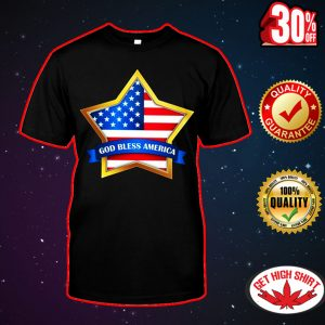 Star God bless America shirt