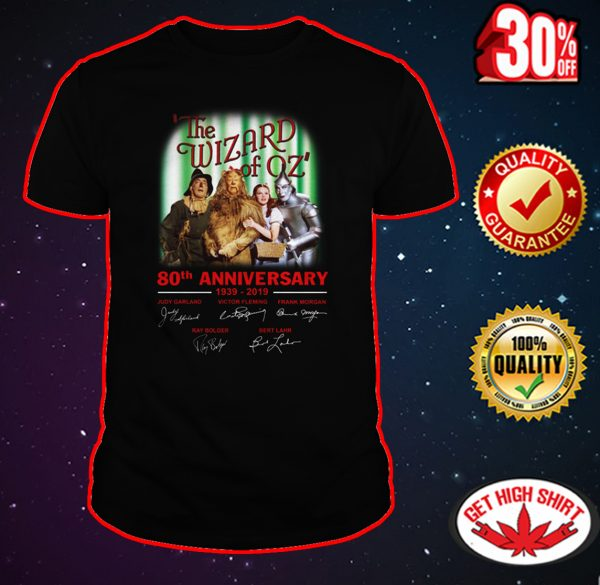 The Wizard of Oz 80th anniversary signature shirt