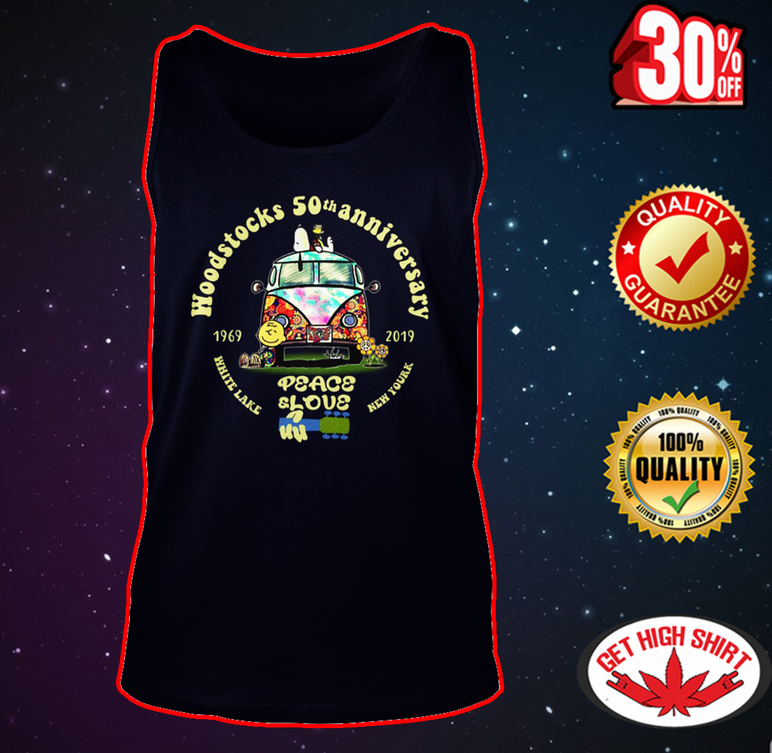 Woodstock 50th anniversary 1969-2019 peace and love tank top