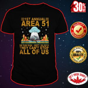 1st annual area 51 5k fun run shirt