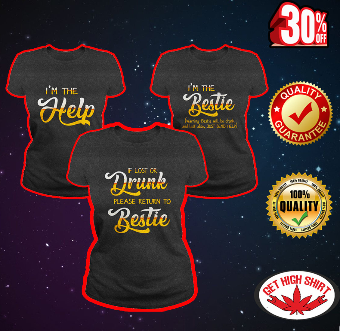 If lost or drunk please return to bestie shirts for three - grey shirt