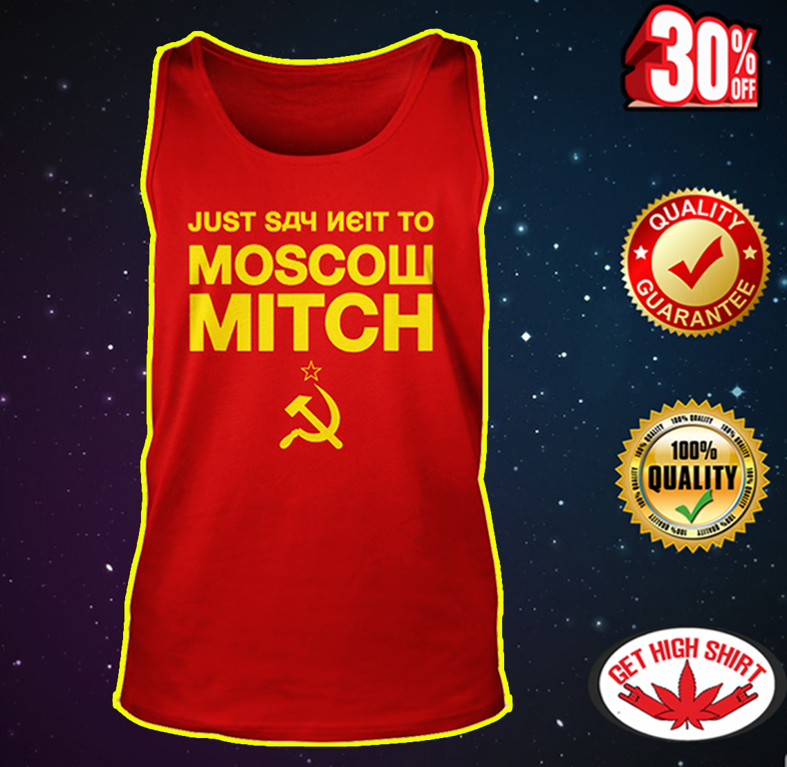 Just Say Neit To Moscow Mitch tank top