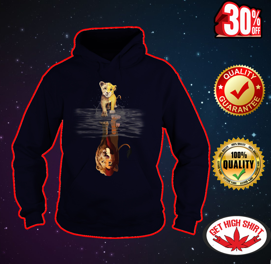 Lion King reflection hoodie