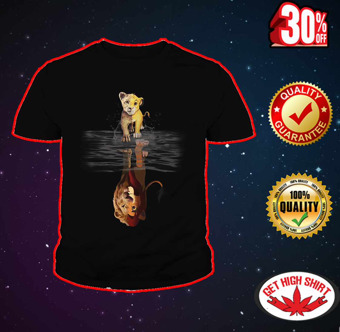 Lion King reflection youth tee