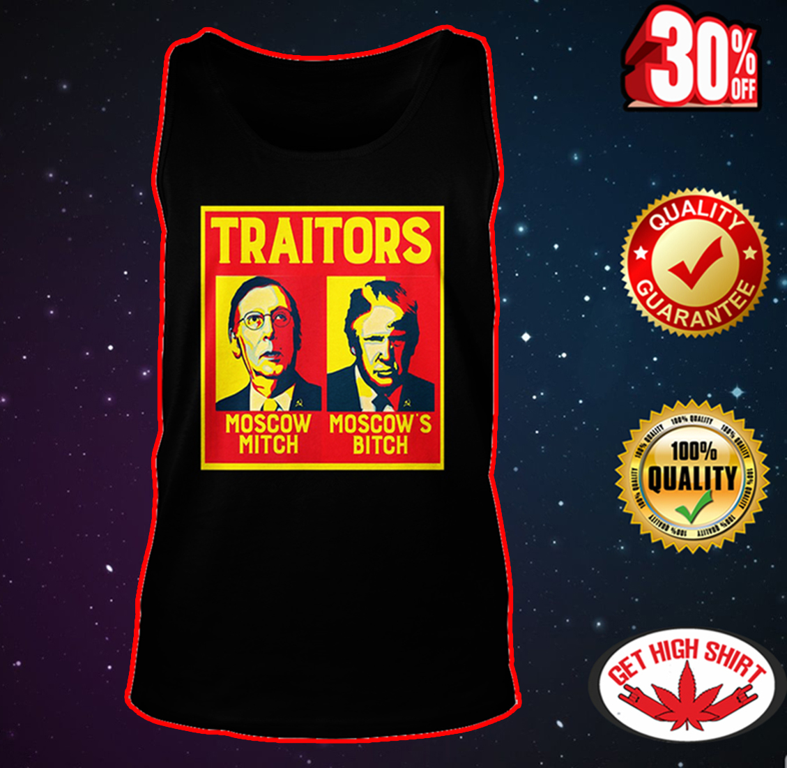 Traitors Ditch Moscow Mitch tank top