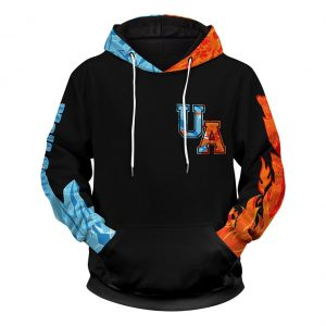 Shoto Fire Ice 3d pullover hoodie - Picture 1