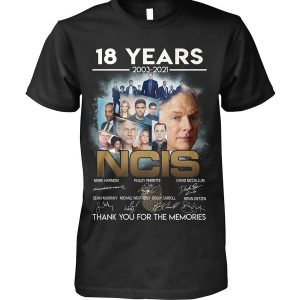 18 years 2003 2021 NCIS signatures thank you for the memories shirt