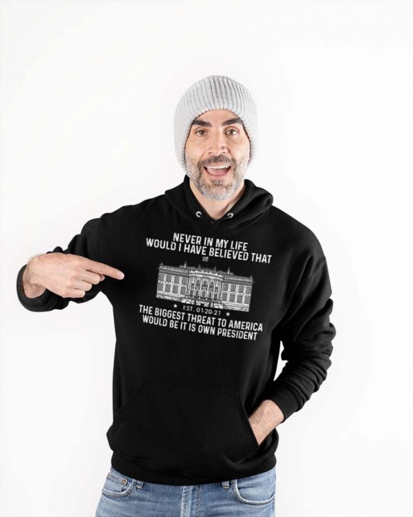 Never in my life would I have believed that the biggest threat to America hoodie