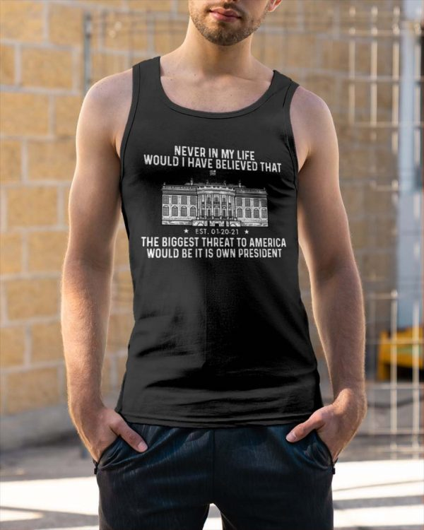Never in my life would I have believed that the biggest threat to America tank top